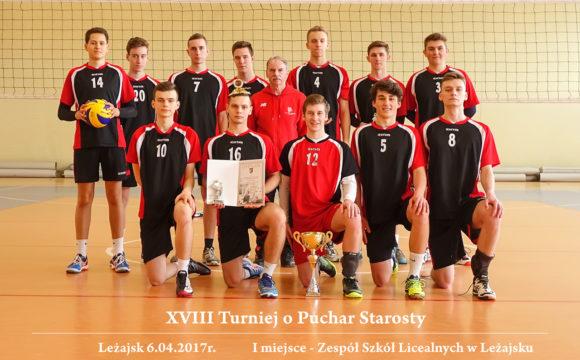 Turniej Piłki Siatkowej Chłopców OPuchar Starosty Powiatu Leżajskiego