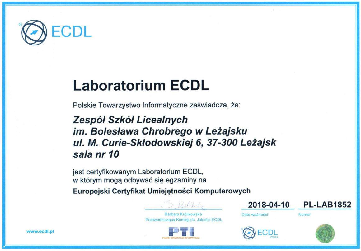Certyfikowane Laboratorium ECDL