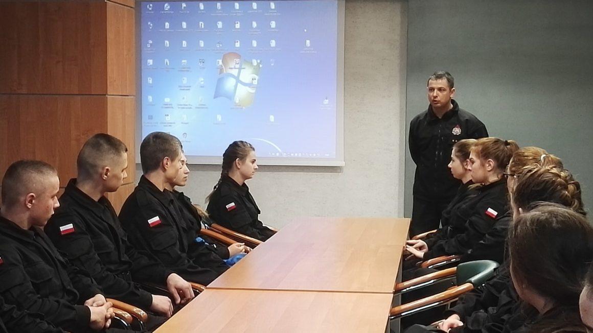 Zwizytą wPowiatowej Państwowej Straży Pożarnej wLeżajsku