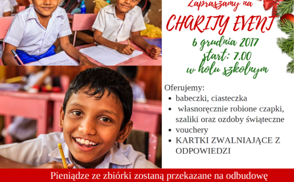 CHARITY EVENT – 6 GRUDNIA