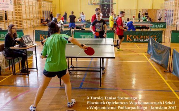 X Turniej Tenisa Stołowego wJarosławiu