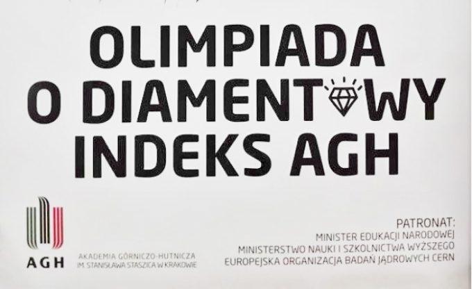 """Drugi etap XI Ogólnopolskiej Olimpiady """"O DIAMENTOWY INDEKS AGH"""""""