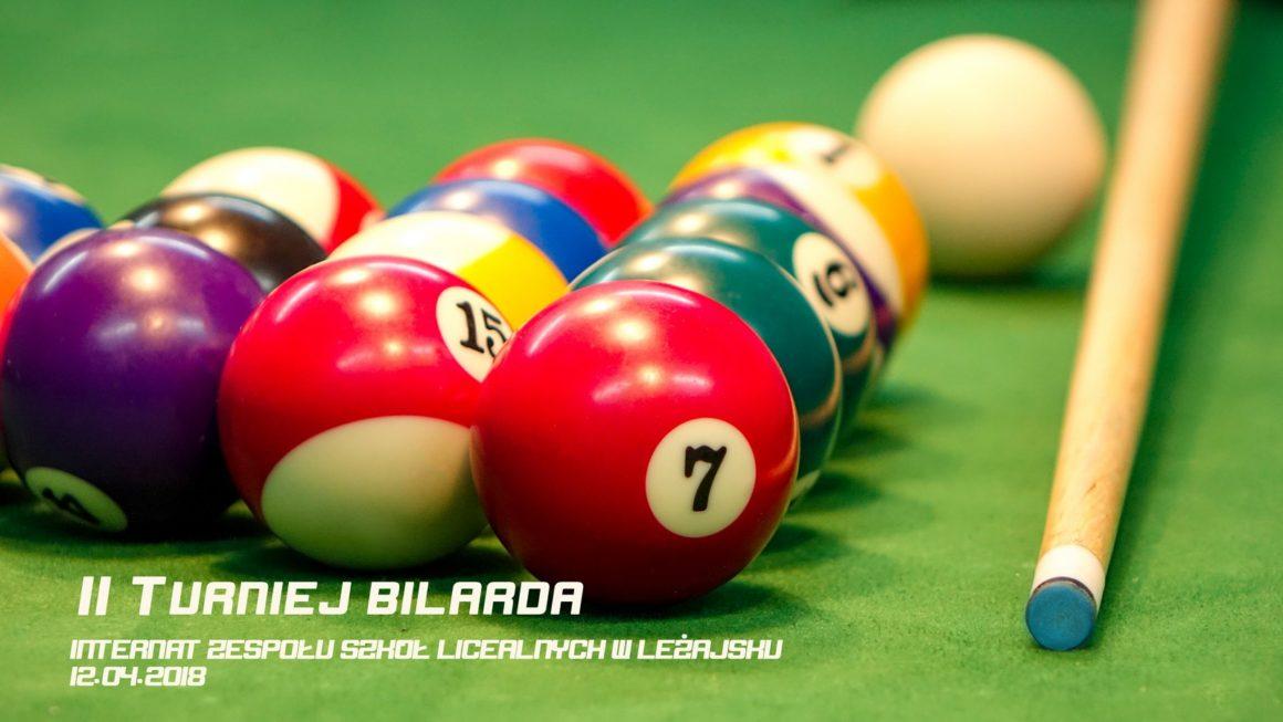 II Turniej bilardowy wInternacie