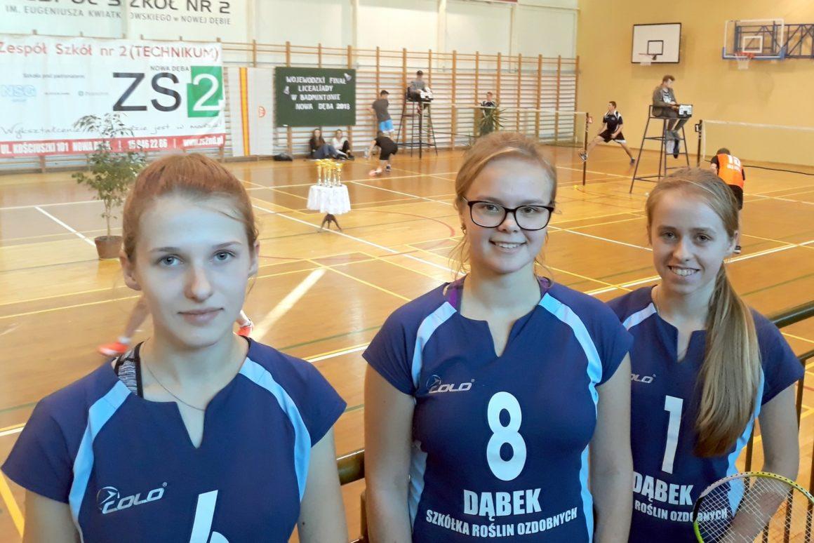 V miejsce w Finale Wojewódzkim Licealiady w badmintonie