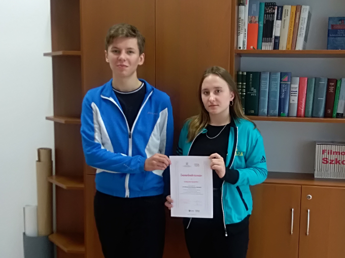 Sukcesy uczniów ZSL w Olimpiadzie Wiedzy o Mediach