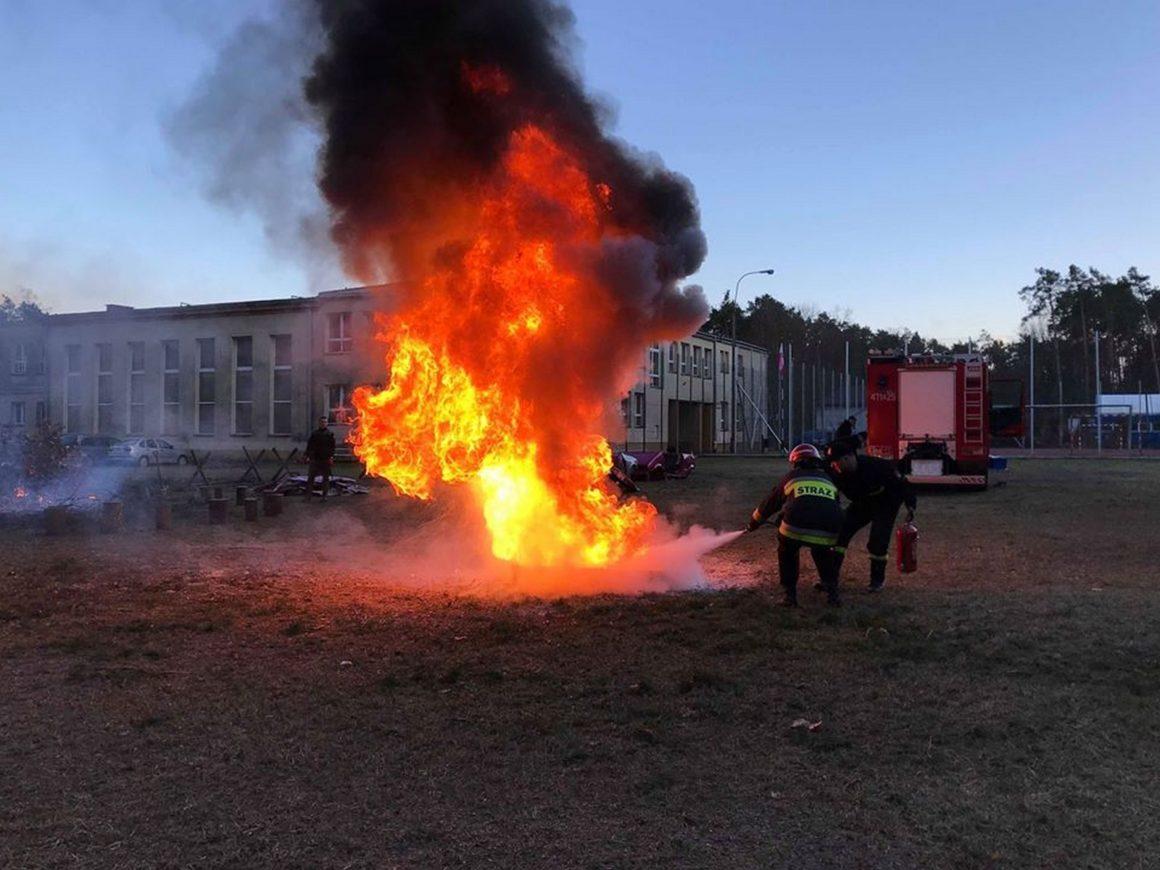 Obóz klas pożarniczych w CSKM w Nowej Sarzynie