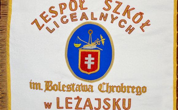 Sztandar Zespołu Szkól Licealnych po renowacji