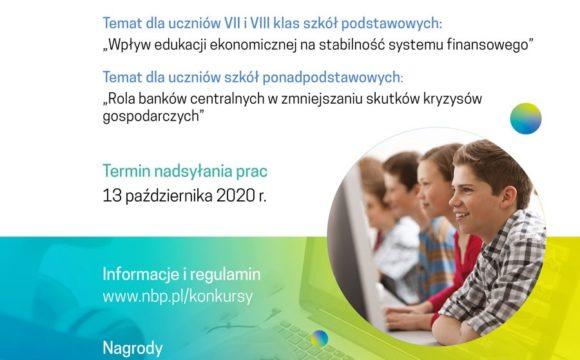 Narodowy Bank Polski zaprasza uczniów do udziału w Konkursie
