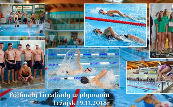 Półfinały Licealiady w pływaniu